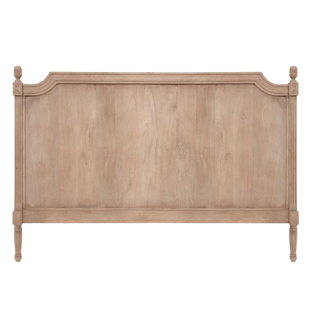 Cabecero de cama de 160 de madera gris chenonceau - Cabecero de madera ...