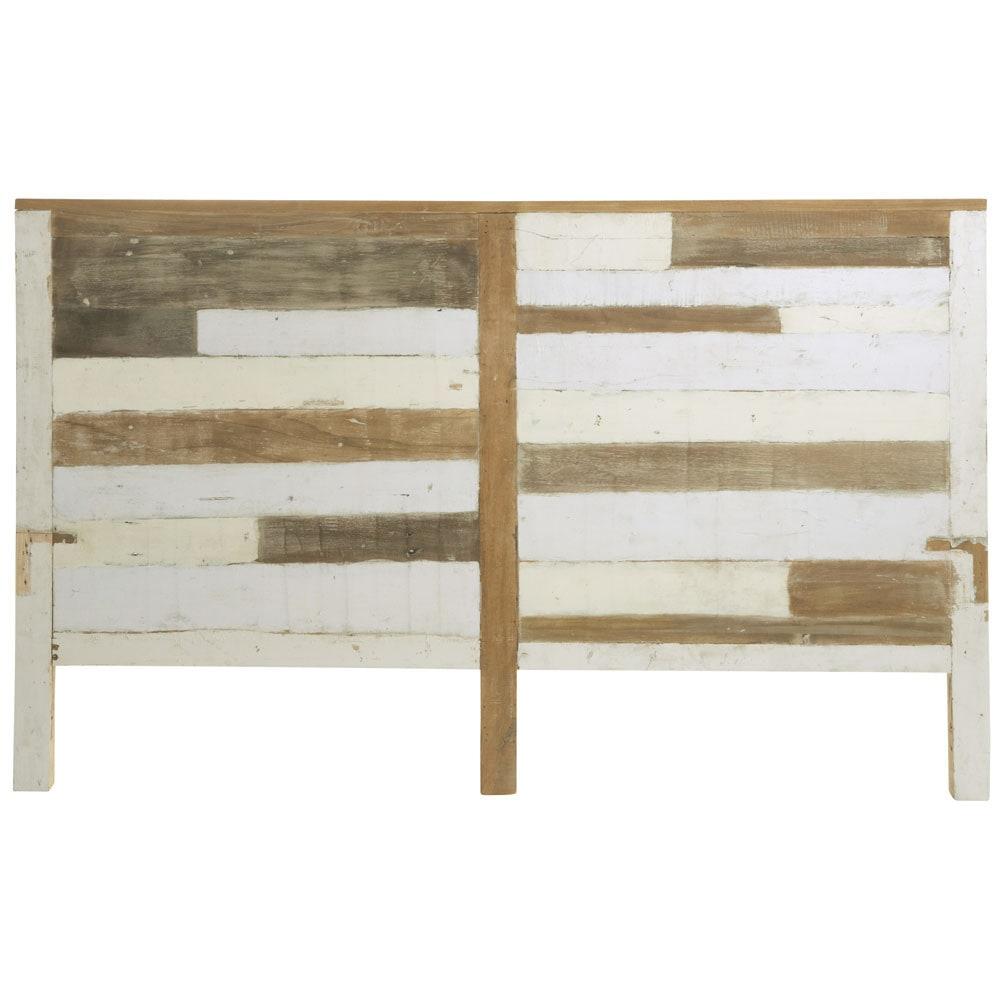 Cabecero de madera reciclada an 160 cm arcachon maisons - Cabeceros en madera ...