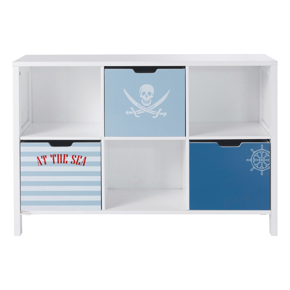 cabinet biblioth que enfant pirate maisons du monde. Black Bedroom Furniture Sets. Home Design Ideas