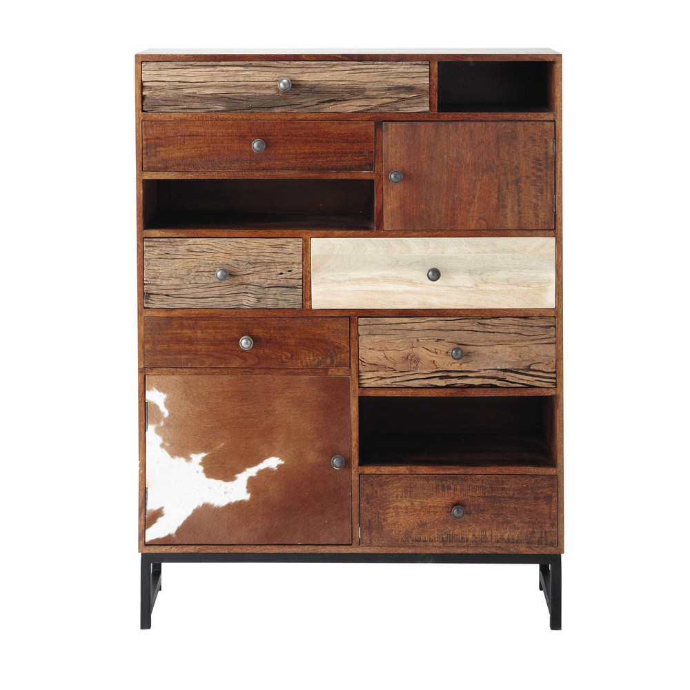 cabinet de rangement en manguier l 100 cm montana maisons du monde. Black Bedroom Furniture Sets. Home Design Ideas