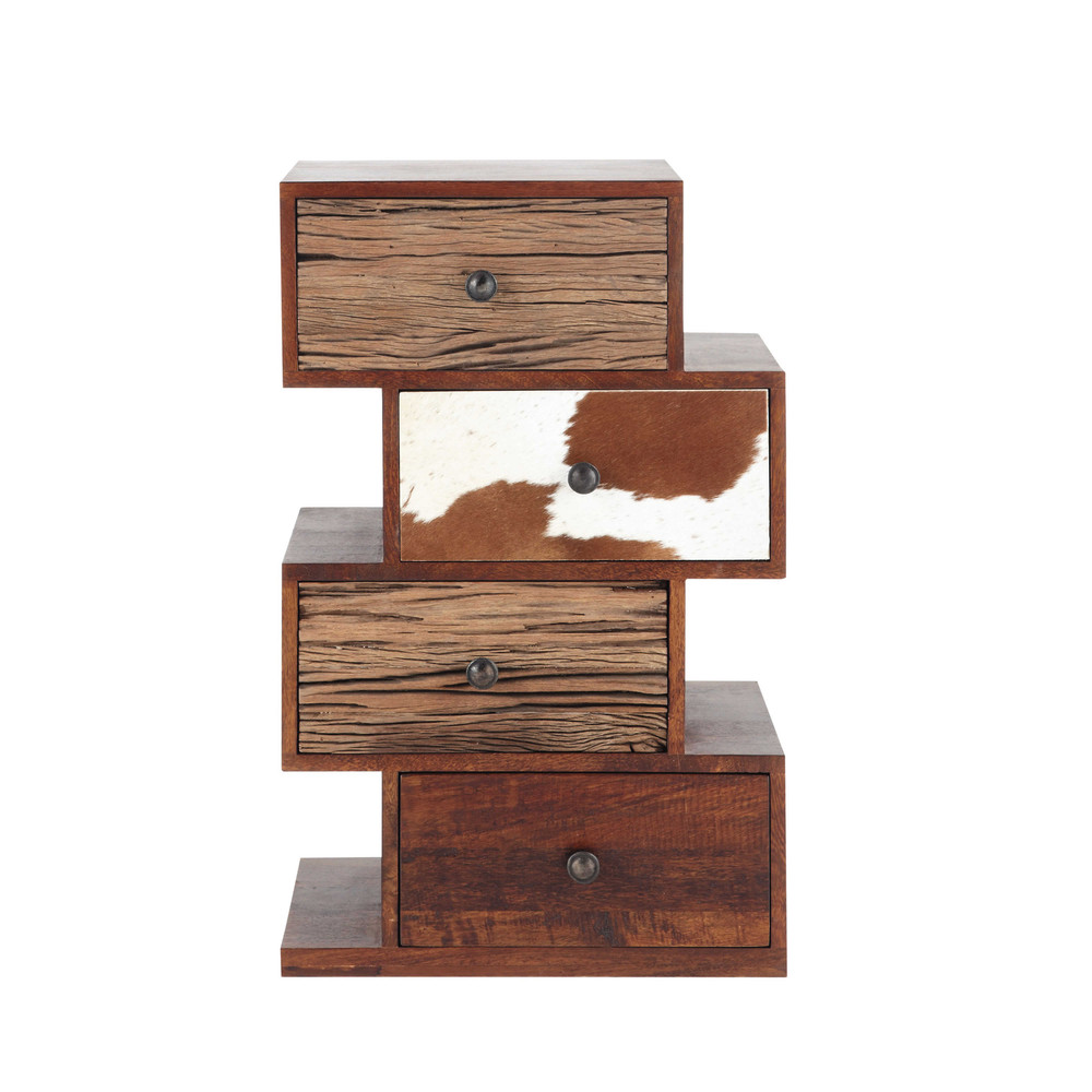 cabinet de rangement en manguier l 50 cm montana maisons du monde. Black Bedroom Furniture Sets. Home Design Ideas