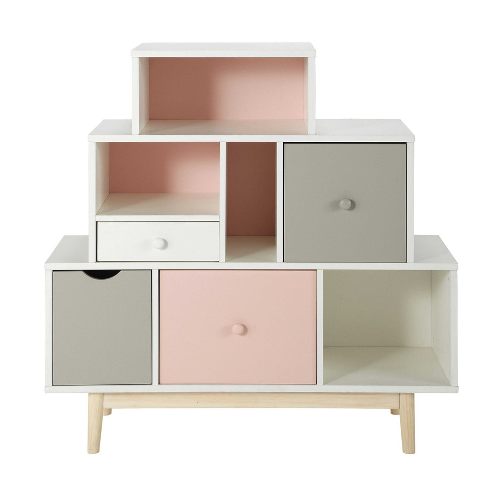 cabinet en bois blanc l 105 cm blush maisons du monde. Black Bedroom Furniture Sets. Home Design Ideas