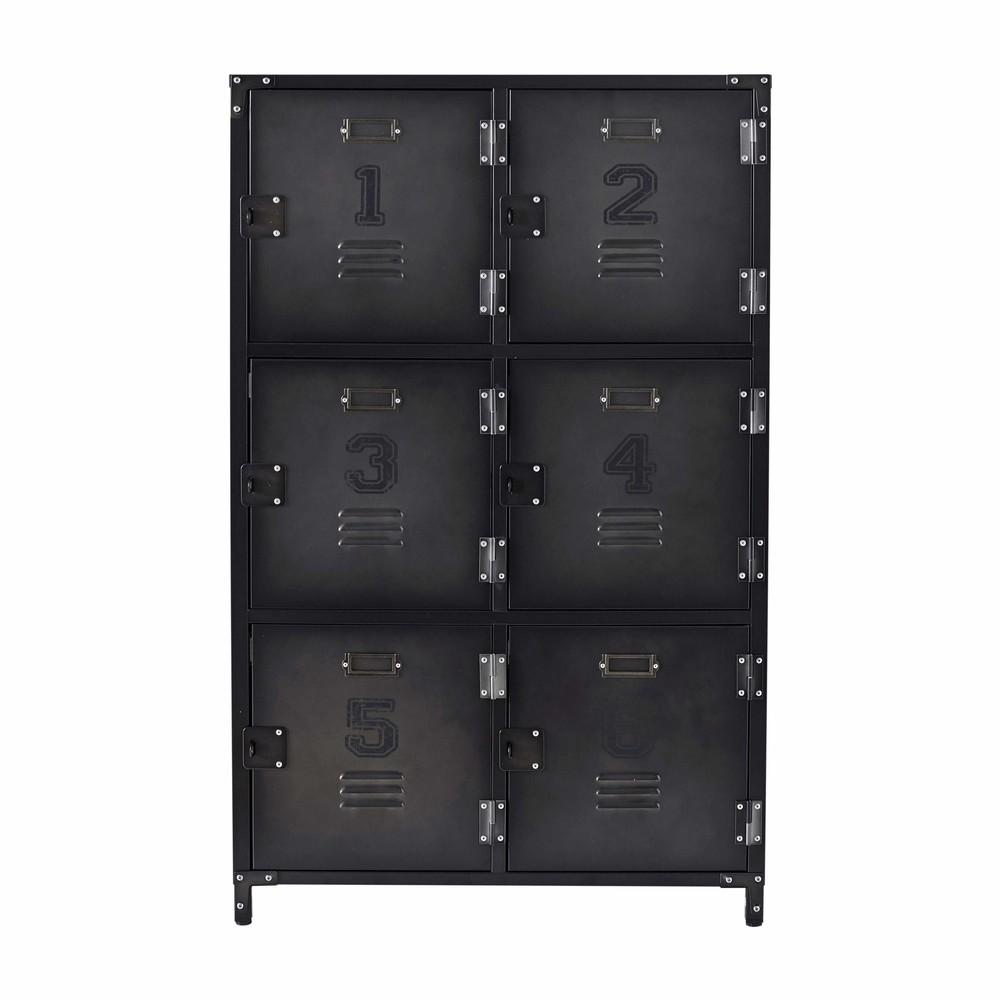 cabinet indus 6 casiers en m tal l 75 cm andrews maisons. Black Bedroom Furniture Sets. Home Design Ideas