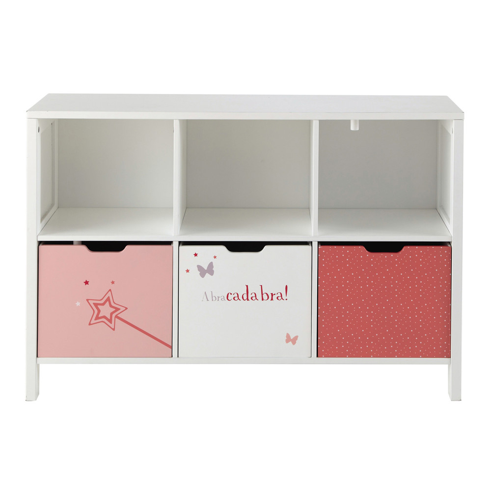 cabinet rangement enfant 6 casiers stella maisons du monde. Black Bedroom Furniture Sets. Home Design Ideas