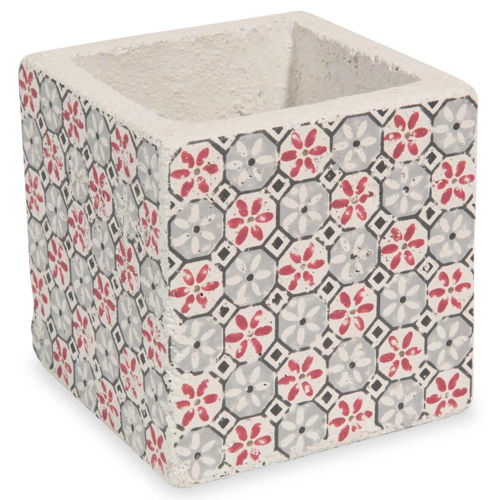 cache pot en ciment h 10 cm clat maisons du monde. Black Bedroom Furniture Sets. Home Design Ideas