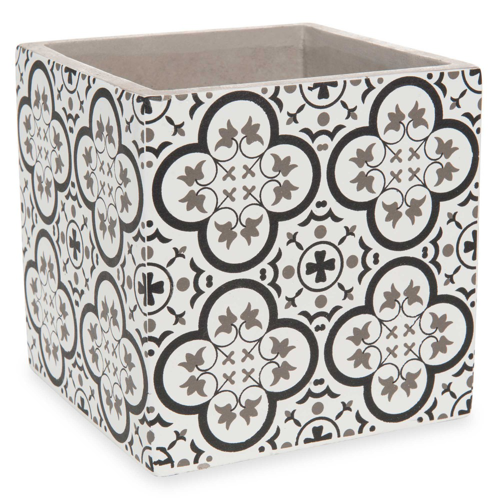 cache pot en ciment h 13 cm chania maisons du monde. Black Bedroom Furniture Sets. Home Design Ideas