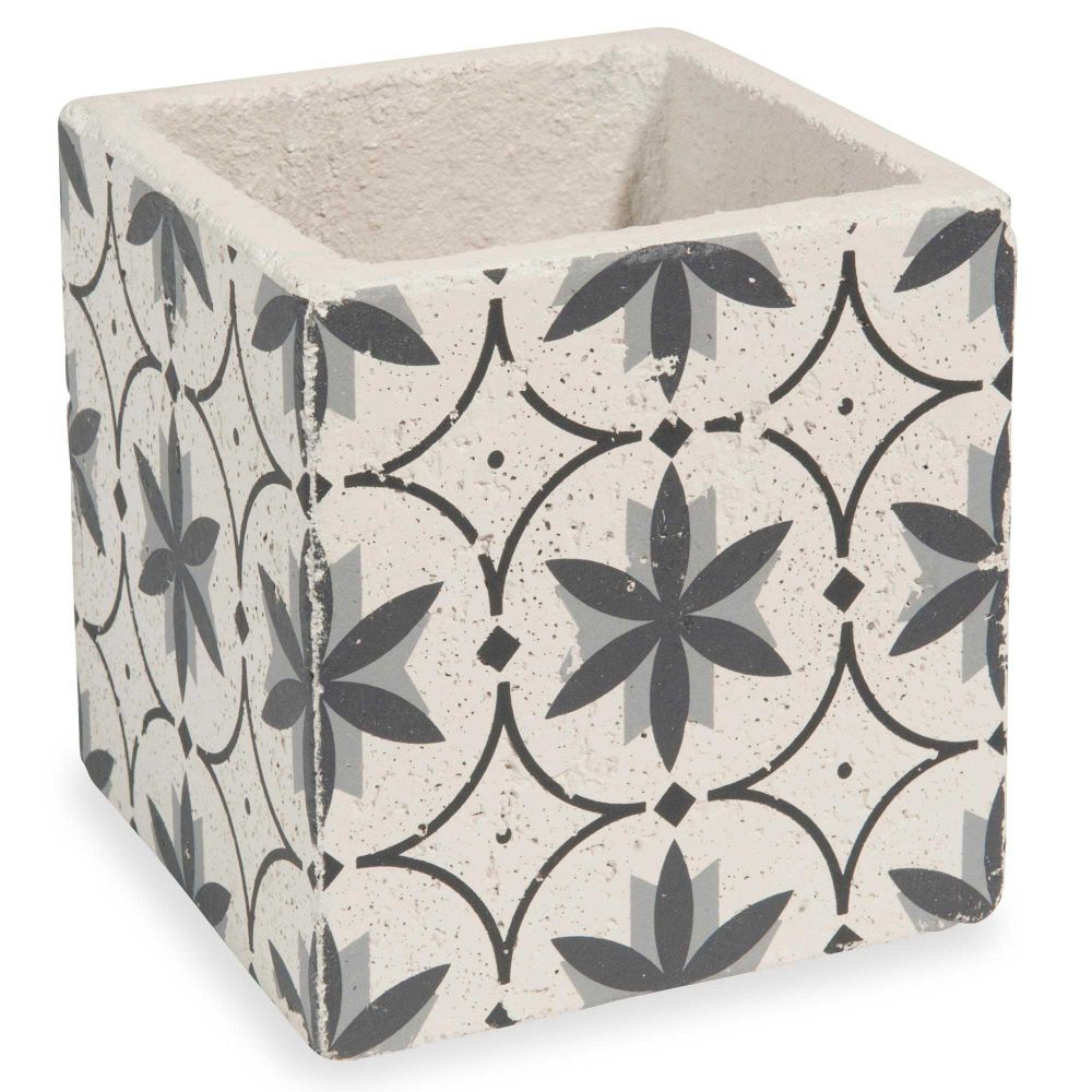 cache pot en ciment h 14 cm flower slow maisons du monde. Black Bedroom Furniture Sets. Home Design Ideas