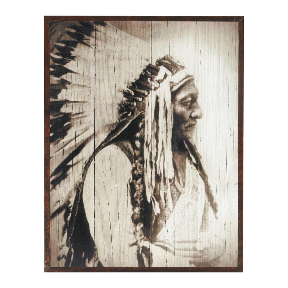 Cadre indien cherokee maisons du monde - Cadre photos maison du monde ...