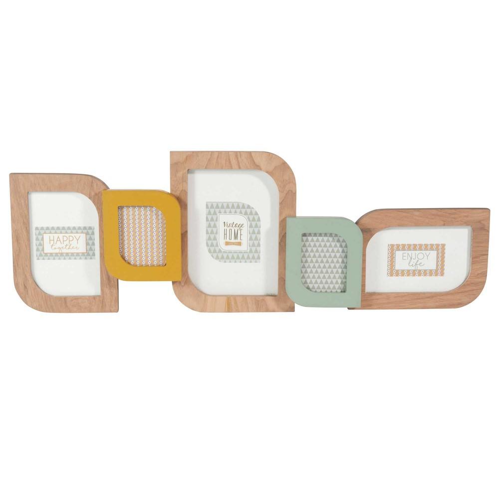 cadre photo 5 vues 22 x 63 cm vitamine maisons du monde. Black Bedroom Furniture Sets. Home Design Ideas