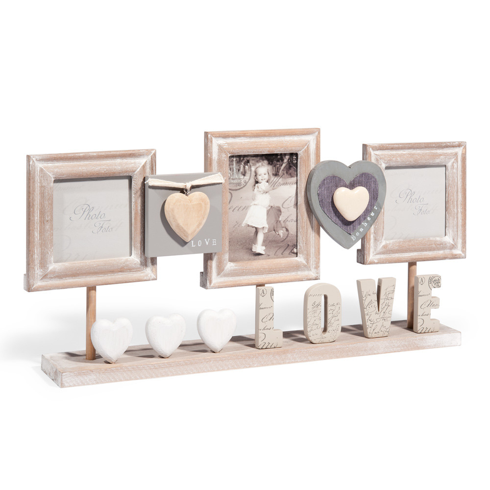 cadre photo poser en bois 23 x 50 cm cl des champs maisons du monde. Black Bedroom Furniture Sets. Home Design Ideas