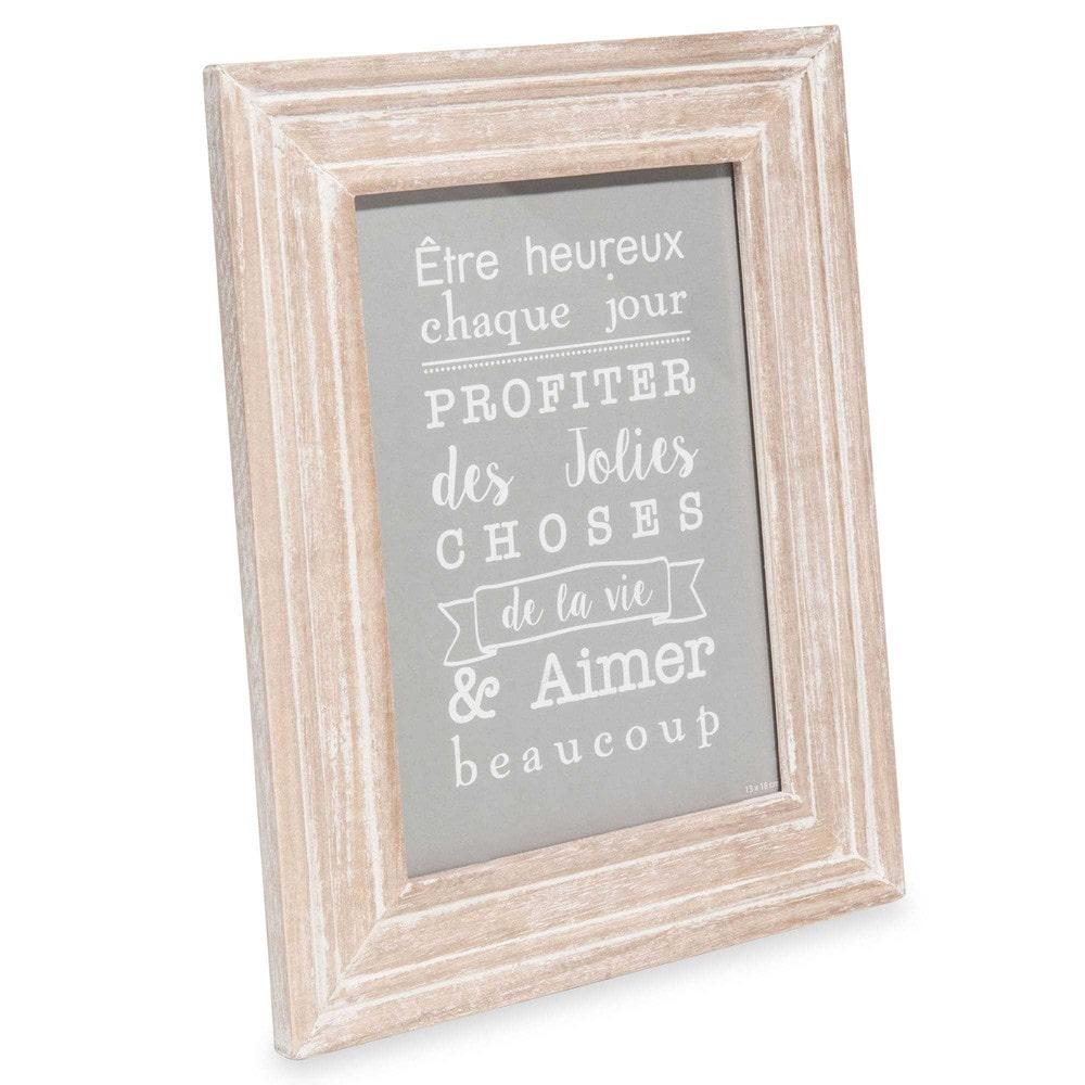cadre photo en bois 13x18 cm agla 201 maisons du monde