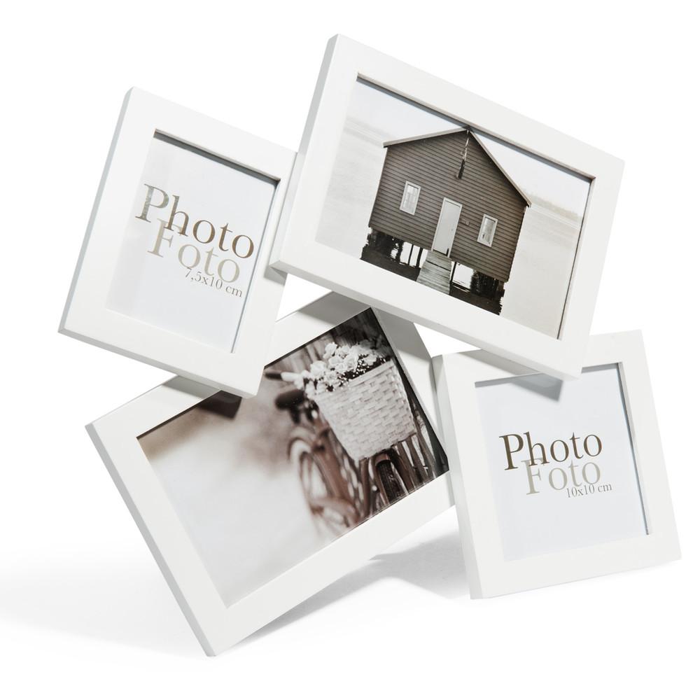 cadre photo en bois blanc 29 x 32 cm micmac maisons du monde. Black Bedroom Furniture Sets. Home Design Ideas