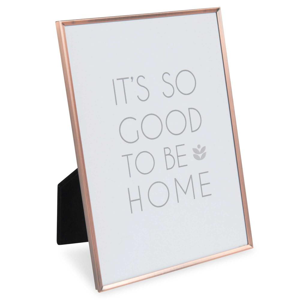 cadre photo en m tal 18x24 cm raja copper maisons du monde. Black Bedroom Furniture Sets. Home Design Ideas