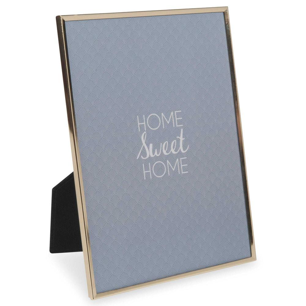 cadre photo en m tal 18x24 cm raja gold maisons du monde. Black Bedroom Furniture Sets. Home Design Ideas