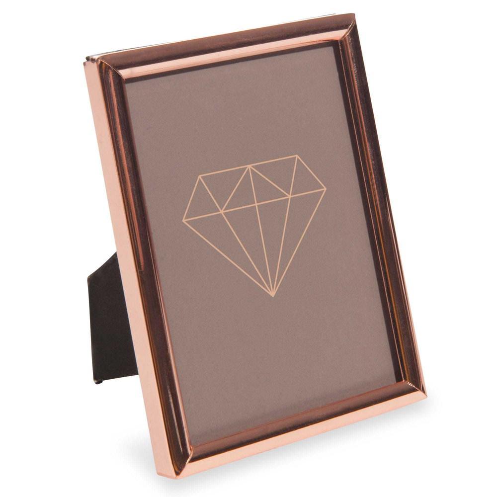 cadre photo en m tal 7 2x9 7 cm zita copper maisons du monde. Black Bedroom Furniture Sets. Home Design Ideas