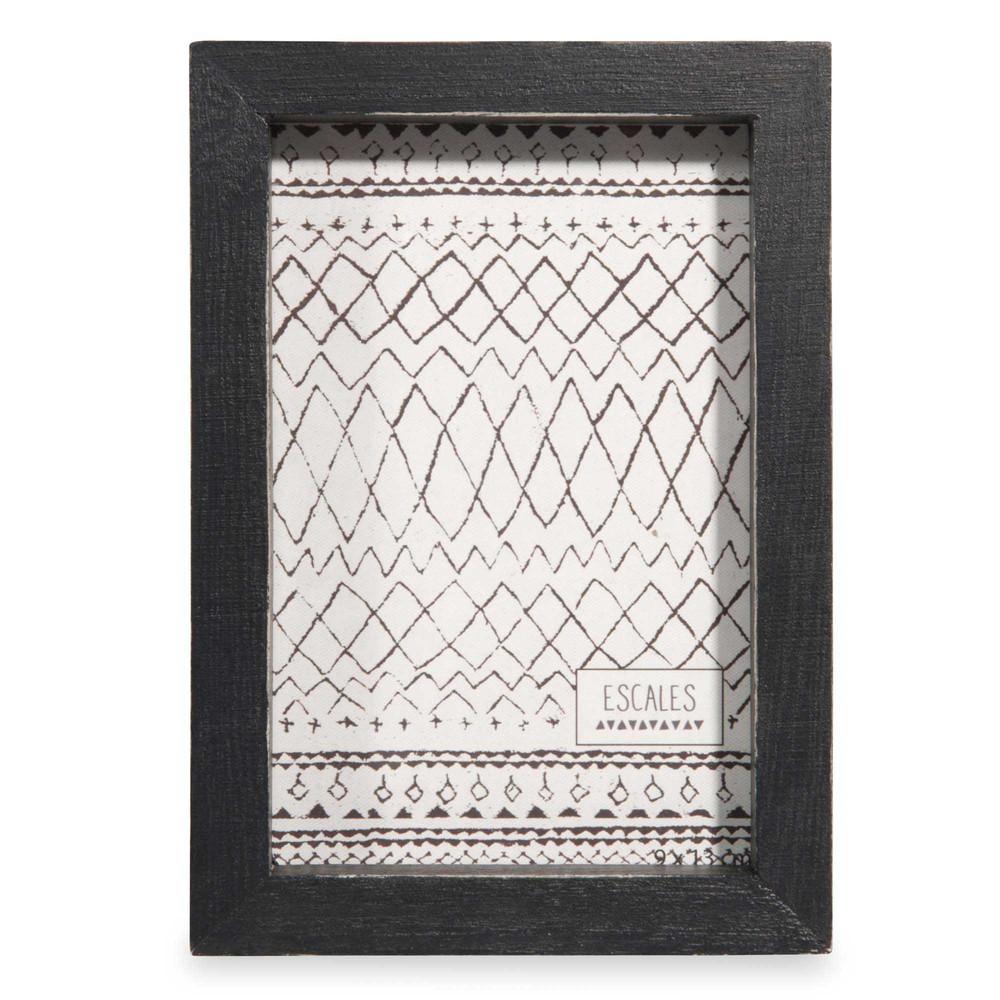 cadre photo noir 10x15cm albin maisons du monde. Black Bedroom Furniture Sets. Home Design Ideas