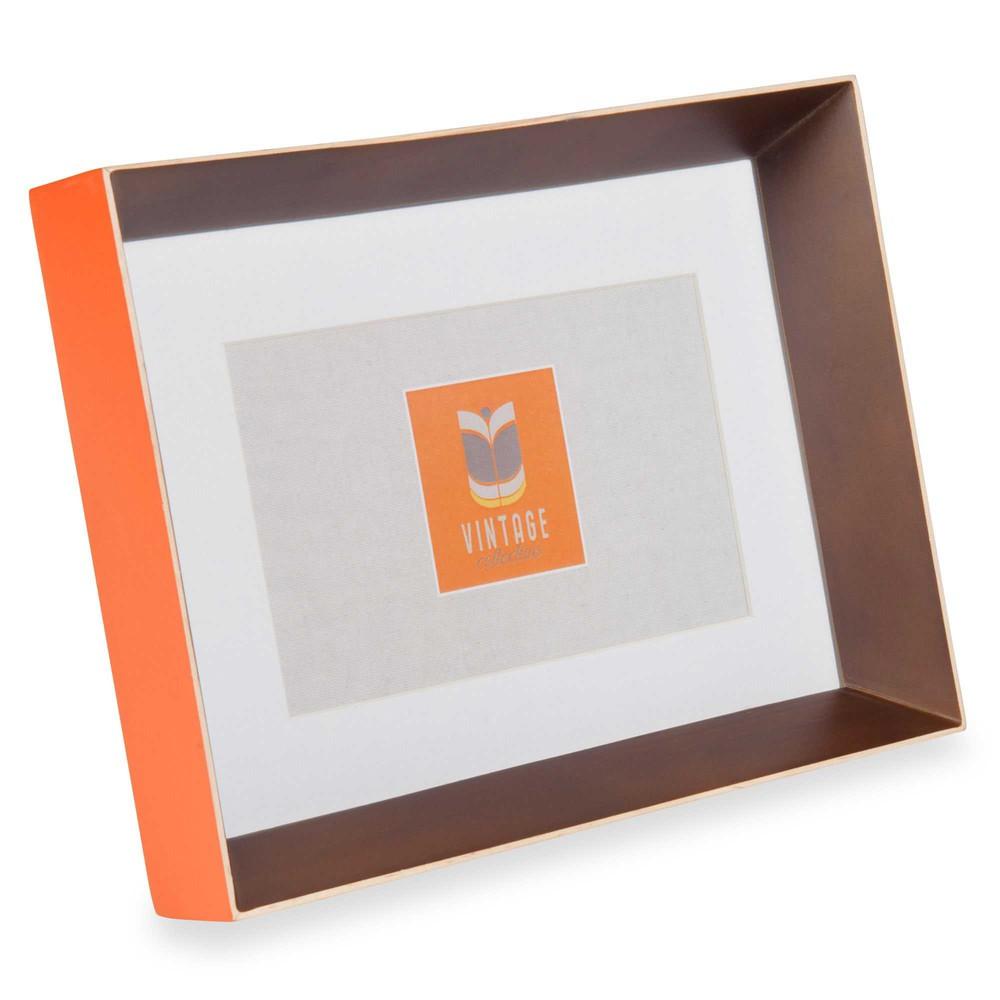 cadre photo orange 13x18 cm seventies maisons du monde. Black Bedroom Furniture Sets. Home Design Ideas