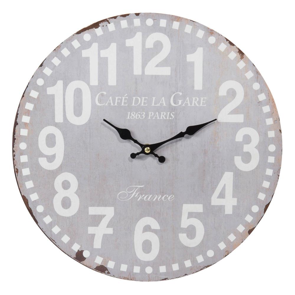 Caf de paris clock d 34cm maisons du monde - Maison du monde paris 12 ...