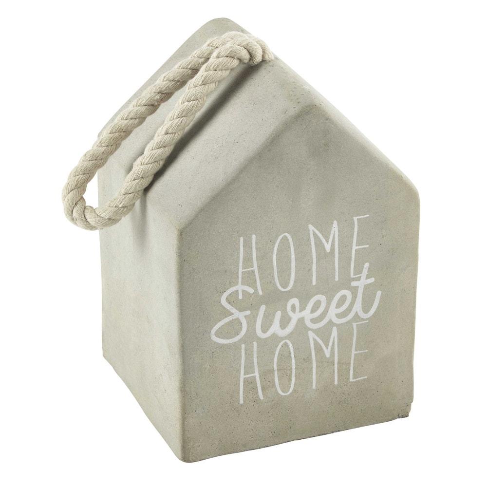 cale porte en ciment gris h 20 cm sweet home maisons du. Black Bedroom Furniture Sets. Home Design Ideas