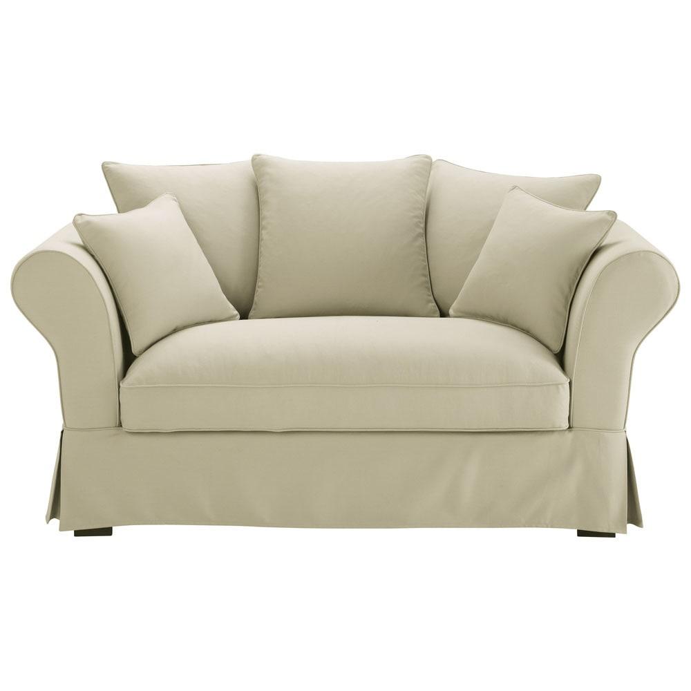 canap 2 3 places en coton mastic roma maisons du monde. Black Bedroom Furniture Sets. Home Design Ideas
