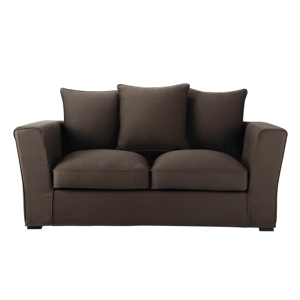 canap 2 3 places en tissu chocolat balthazar maisons du. Black Bedroom Furniture Sets. Home Design Ideas