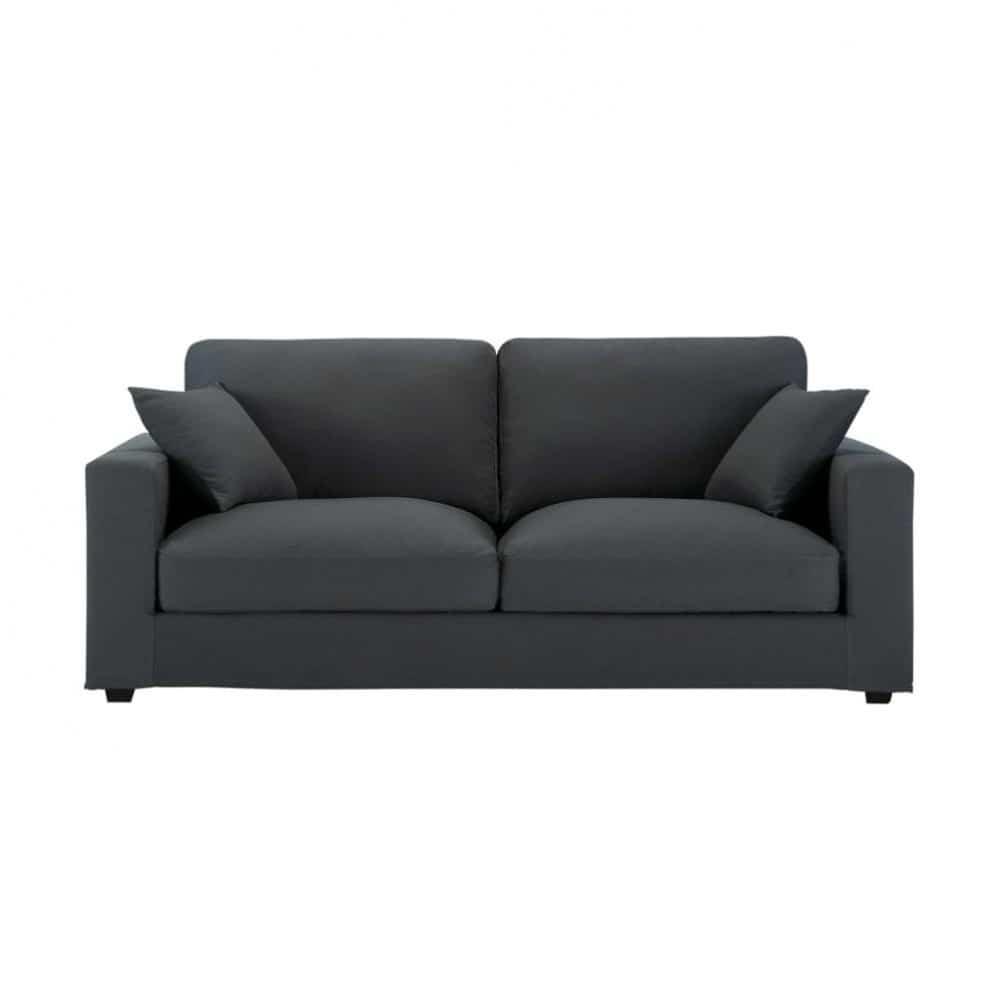 canap 3 places en coton gris chicago maisons du monde. Black Bedroom Furniture Sets. Home Design Ideas