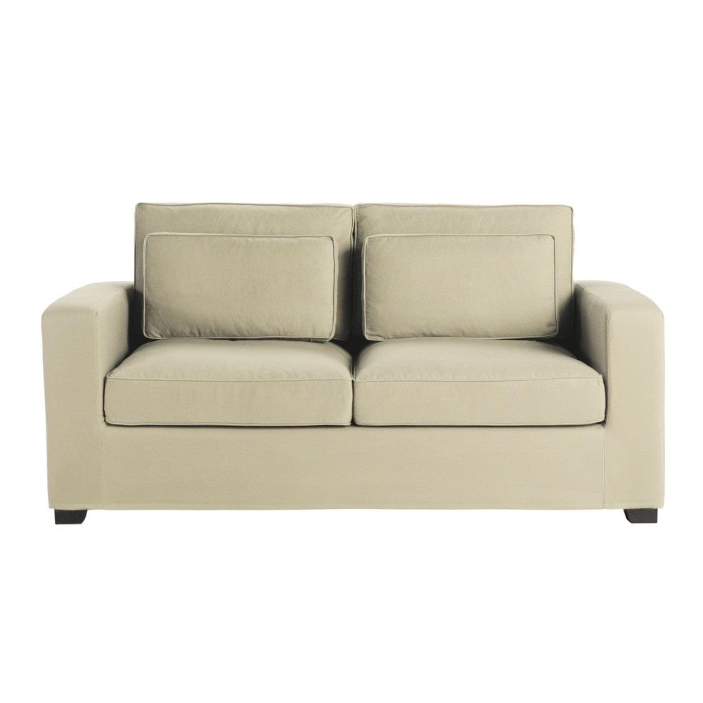 canap 3 places en coton mastic milano maisons du monde. Black Bedroom Furniture Sets. Home Design Ideas