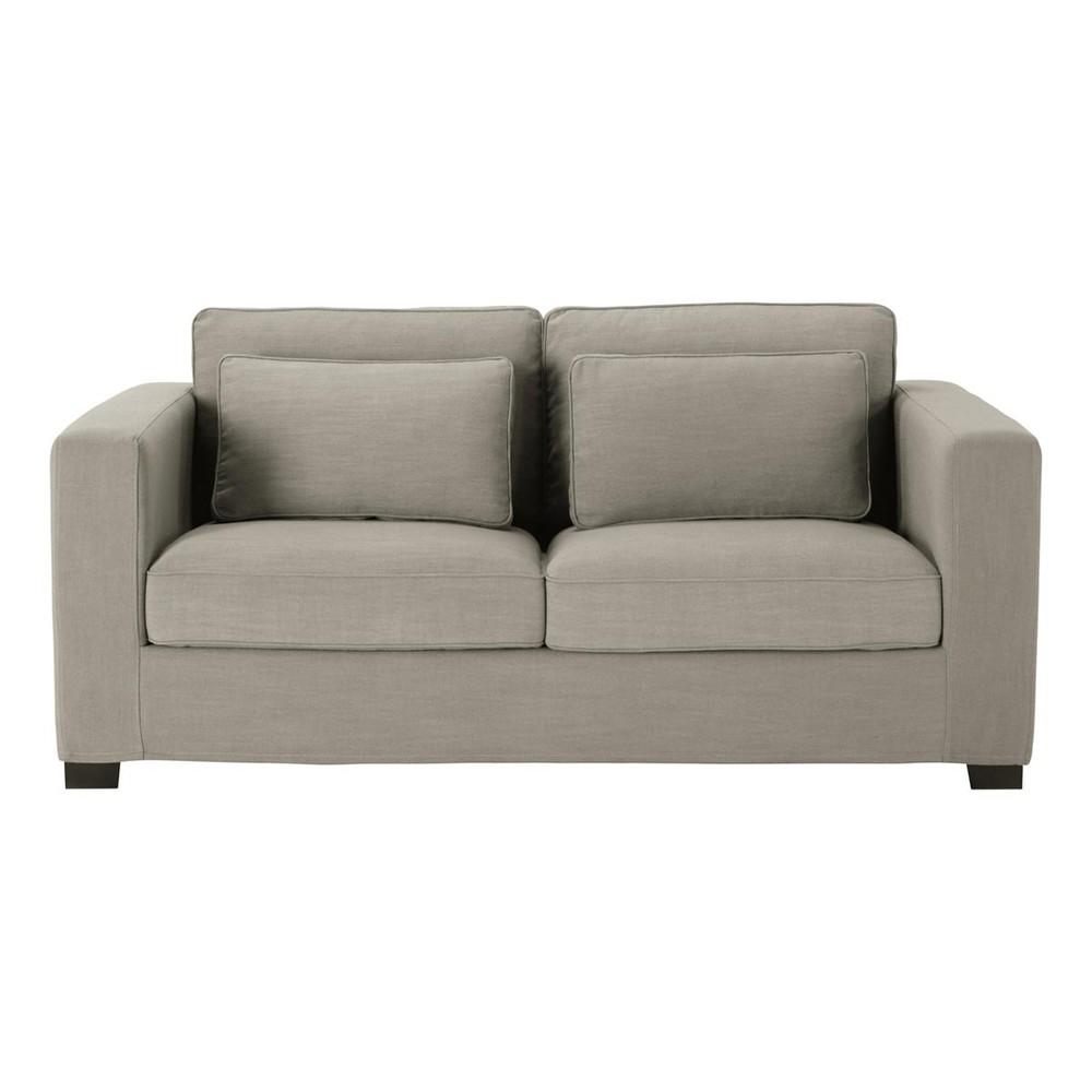canap 3 places en tissu gris milano maisons du monde. Black Bedroom Furniture Sets. Home Design Ideas
