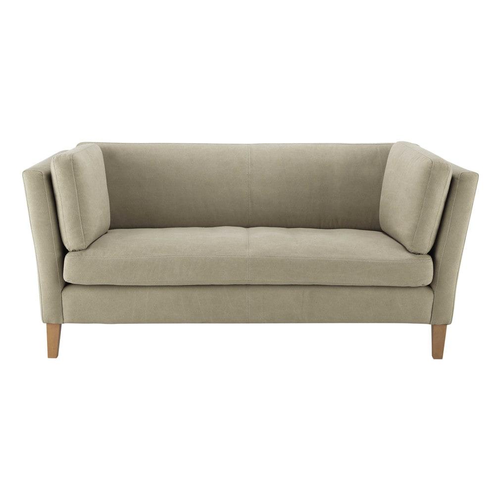 canap 3 places en tissu mastic danna maisons du monde. Black Bedroom Furniture Sets. Home Design Ideas