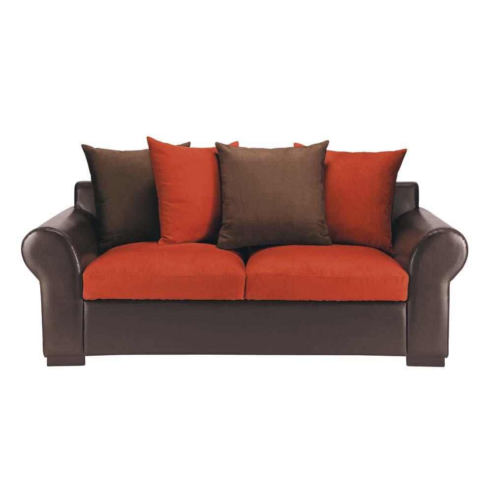canap 3 places fixe antigua maisons du monde. Black Bedroom Furniture Sets. Home Design Ideas