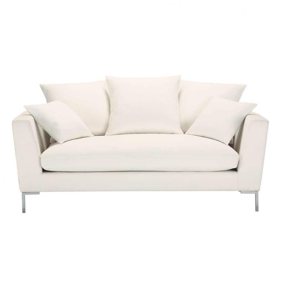 canap 3 places fixe ivoire dublin maisons du monde. Black Bedroom Furniture Sets. Home Design Ideas