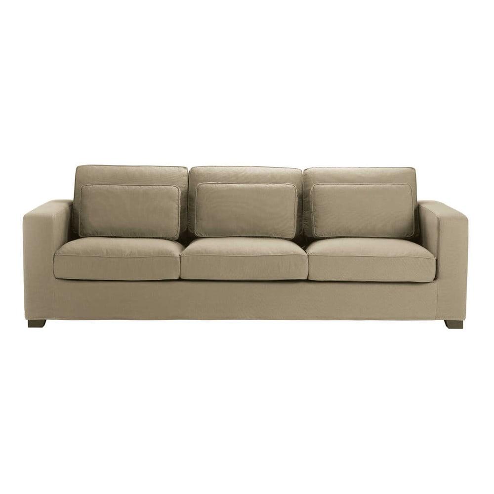 canap 4 places en coton taupe milano maisons du monde. Black Bedroom Furniture Sets. Home Design Ideas