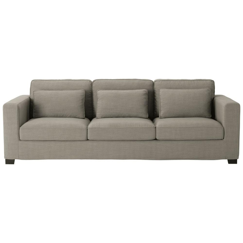 canap 4 places en tissu gris milano maisons du monde. Black Bedroom Furniture Sets. Home Design Ideas
