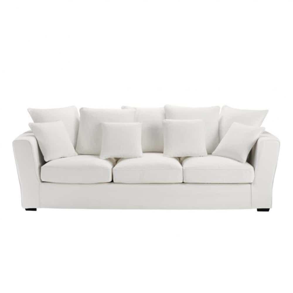 canap 4 places fixe ivoire balthazar maisons du monde. Black Bedroom Furniture Sets. Home Design Ideas