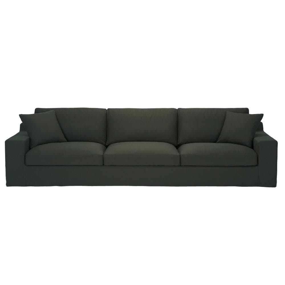 Canap 5 places en coton anthracite stuart maisons du monde for Canape 5 place