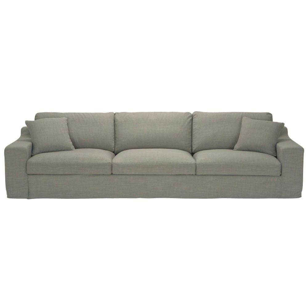 canap 5 places en tissu gris stuart maisons du monde. Black Bedroom Furniture Sets. Home Design Ideas