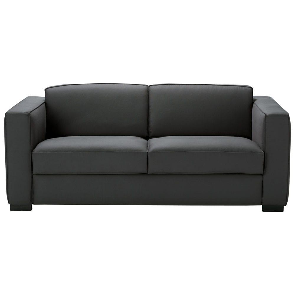 canap convertible 3 places en coton gris ardoise berlin. Black Bedroom Furniture Sets. Home Design Ideas