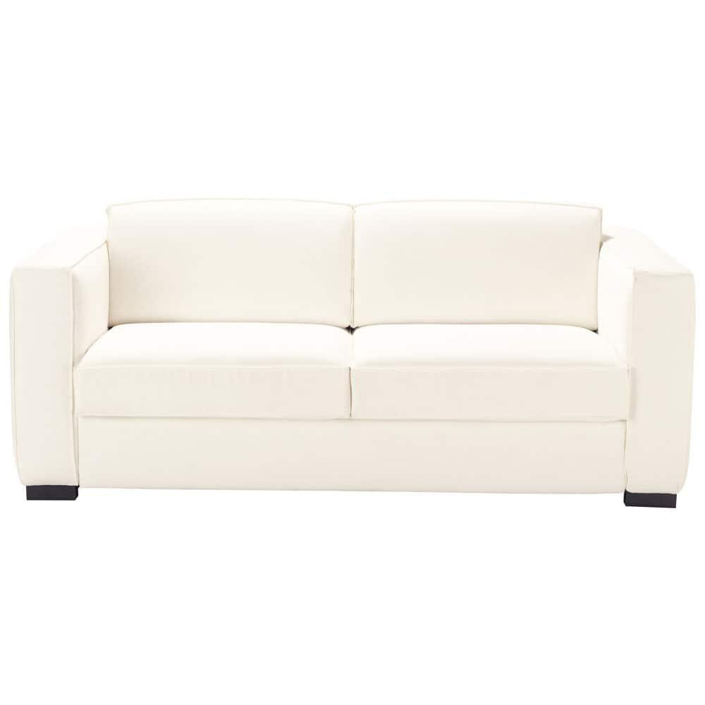 canap convertible 3 places en coton ivoire berlin maisons du monde. Black Bedroom Furniture Sets. Home Design Ideas