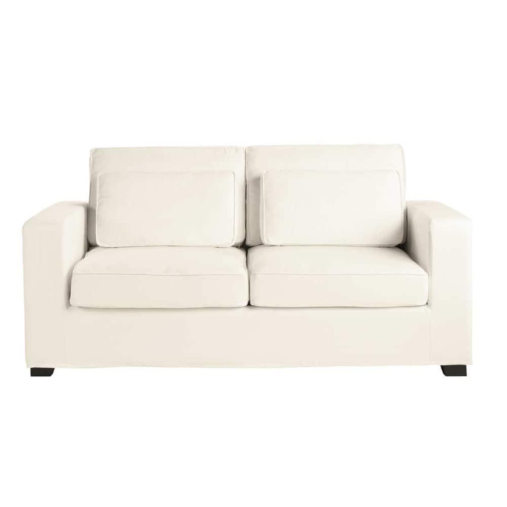 canap convertible 3 places en coton ivoire milano maisons du monde. Black Bedroom Furniture Sets. Home Design Ideas