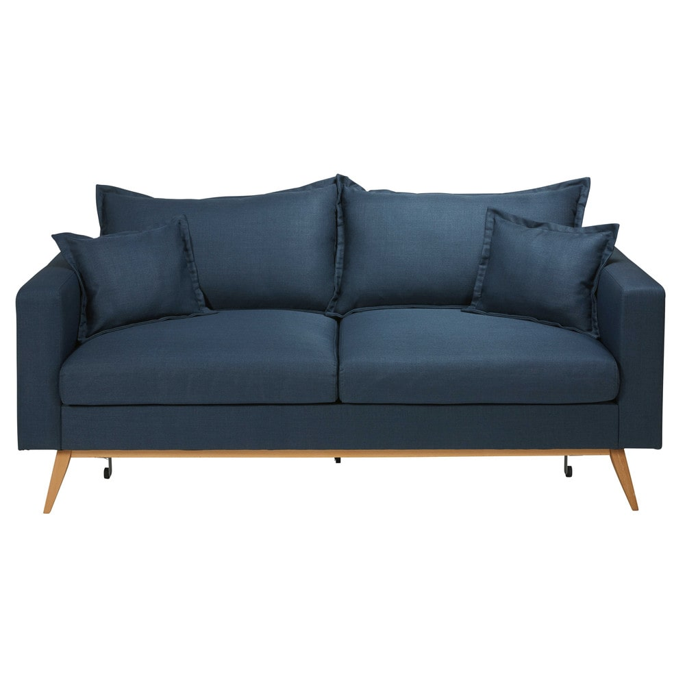 canape bleu. Black Bedroom Furniture Sets. Home Design Ideas