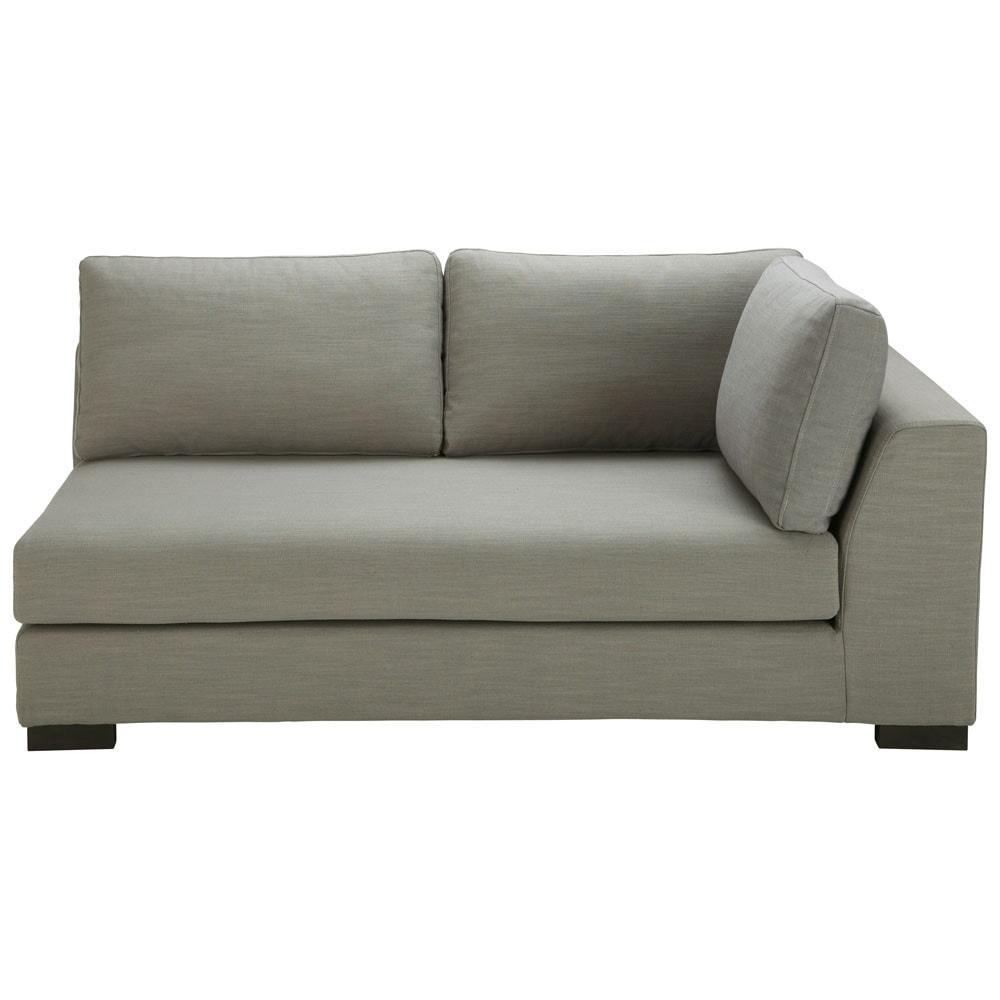 canap convertible modulable accoudoir droit en tissu monet gris clair terence maisons du monde. Black Bedroom Furniture Sets. Home Design Ideas