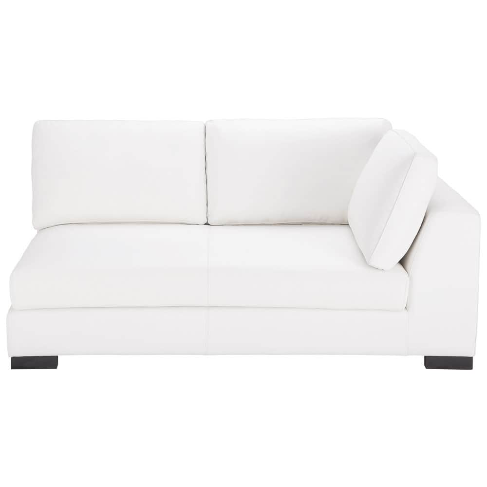 canap convertible modulable droit en cuir blanc terence maisons du monde. Black Bedroom Furniture Sets. Home Design Ideas