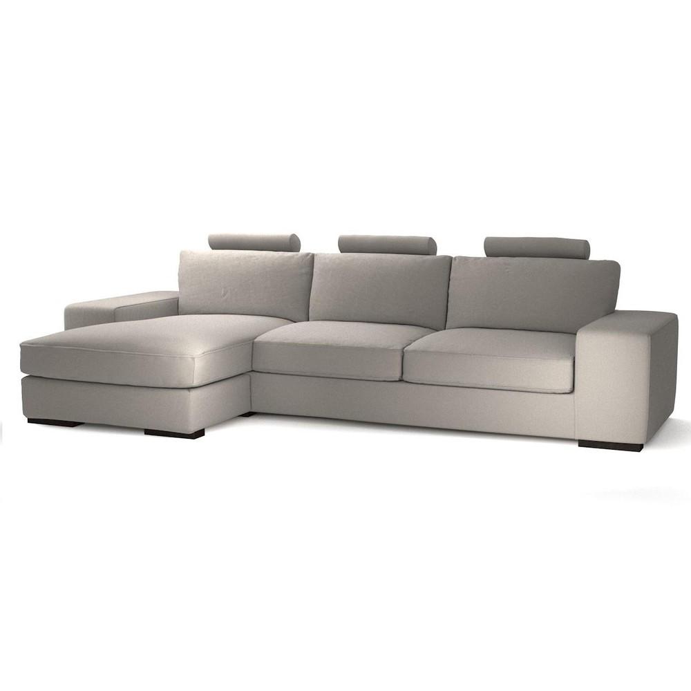 Canap d 39 angle gauche personnalisable 5 places en tissu daytona maisons - Grand canape d angle 12 places ...