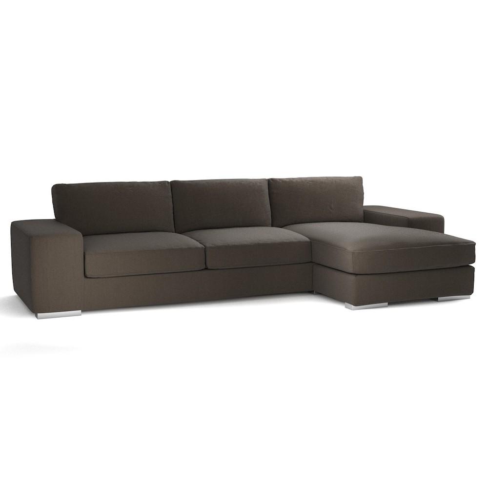 canap d 39 angle personnalisable fixe 5 places daytona maisons du monde. Black Bedroom Furniture Sets. Home Design Ideas