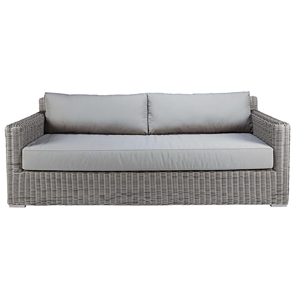 canap de jardin 3 4 places en r sine tress e grise cape. Black Bedroom Furniture Sets. Home Design Ideas