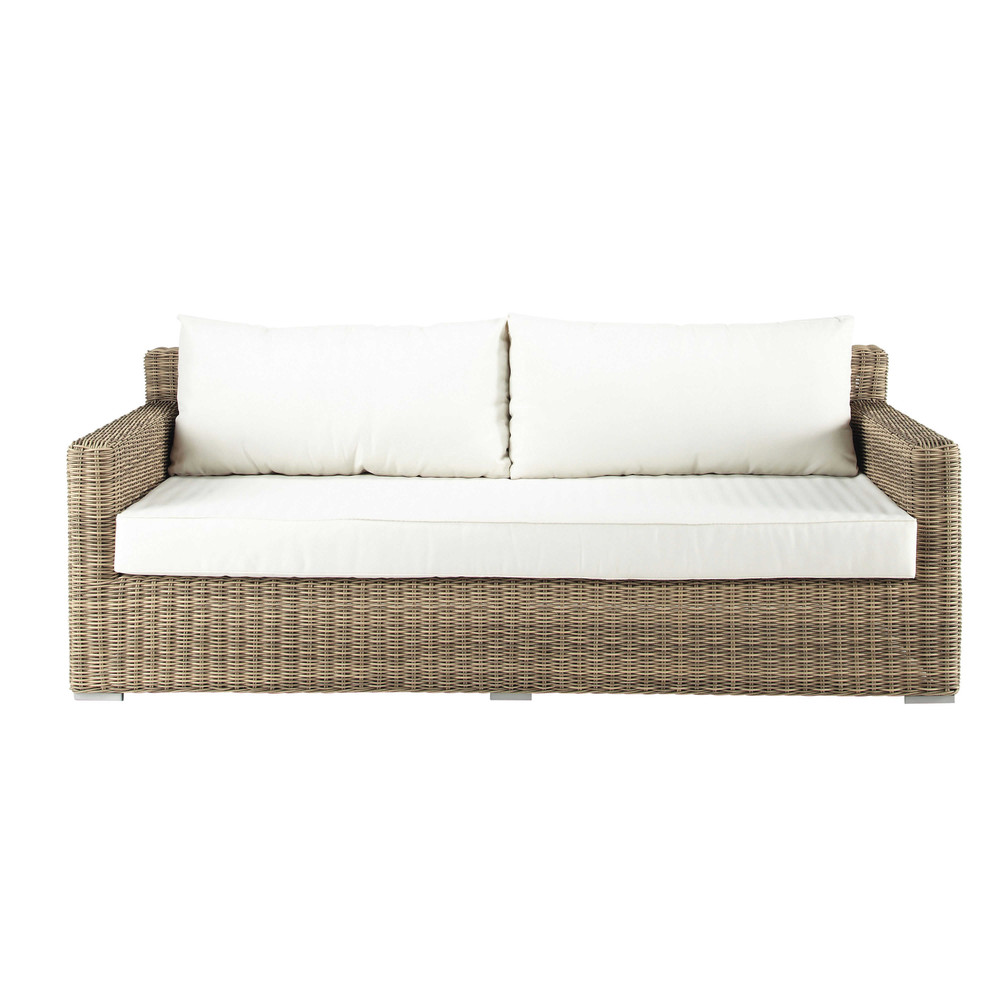 canap de jardin 3 places en r sine tress e saint rapha l maisons du monde. Black Bedroom Furniture Sets. Home Design Ideas