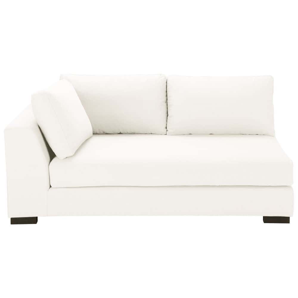 Canap manchot gauche convertible coton ivoire terence for Canape couchage permanent