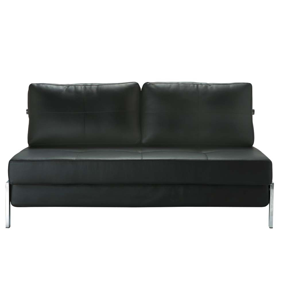 Canap noir 2 places convertible detroit maisons du monde for Canape 5 place convertible