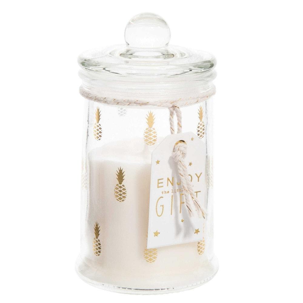 candela bomboniera h 11 cm ananas maisons du monde. Black Bedroom Furniture Sets. Home Design Ideas