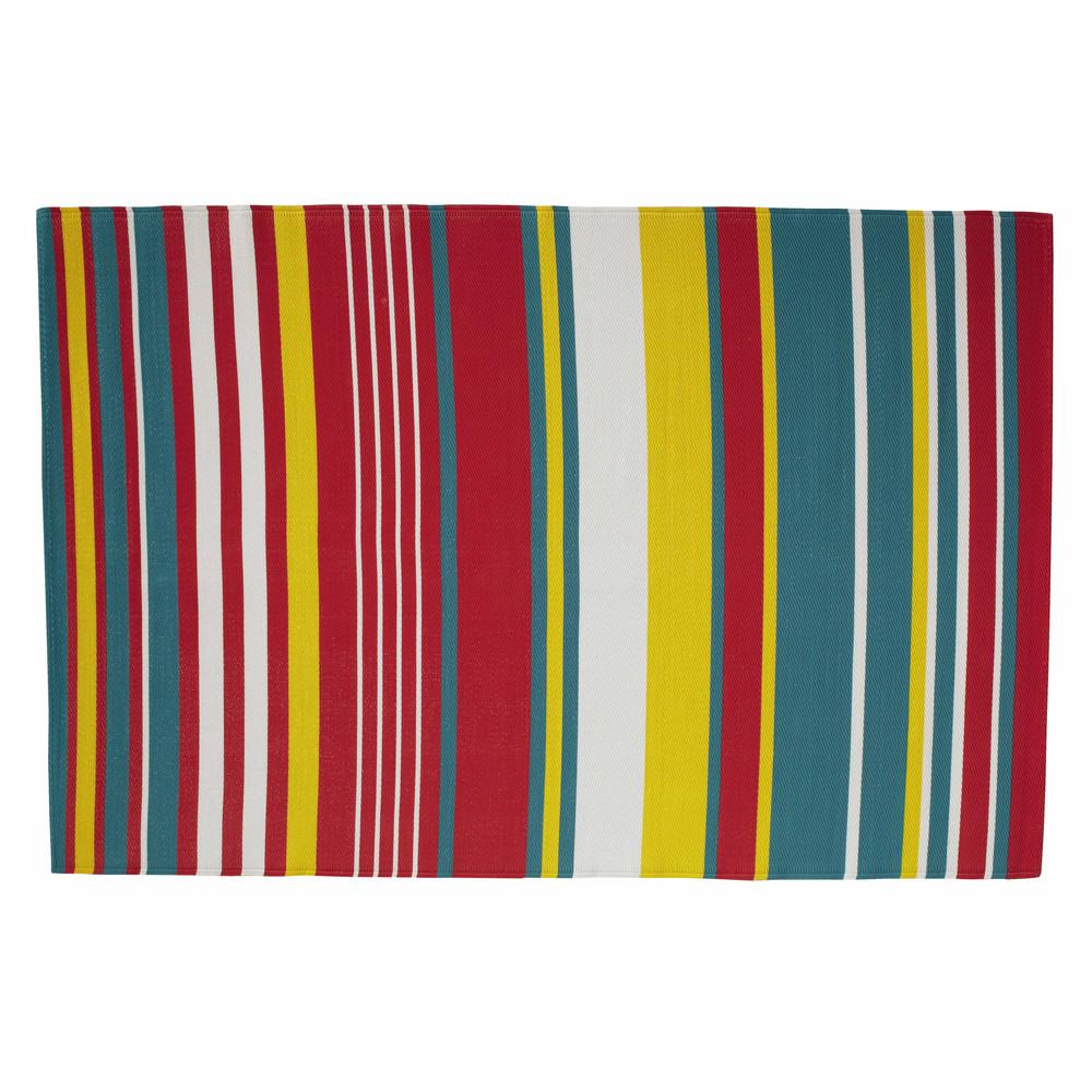 CAPRI polypropylene stripe outdoor rug, multicoloured 180